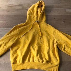 And Other Stories yellow hoodie